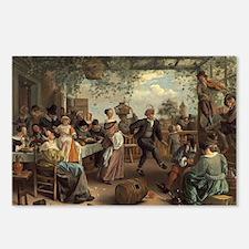 Jan Steen - The Dancing C Postcards (Package of 8)