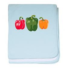 Bell Pepper Vegetables baby blanket
