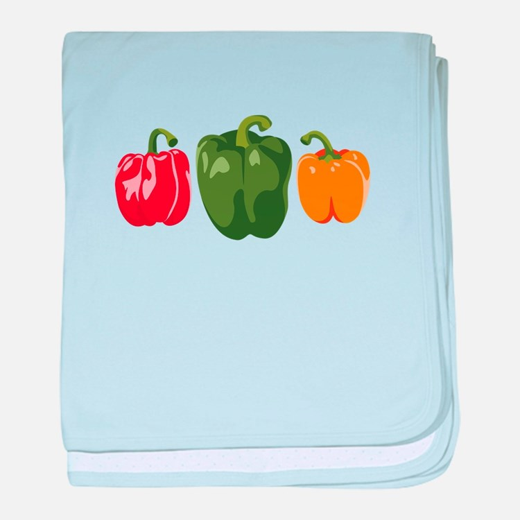 Bell Pepper Vegetables baby blanket
