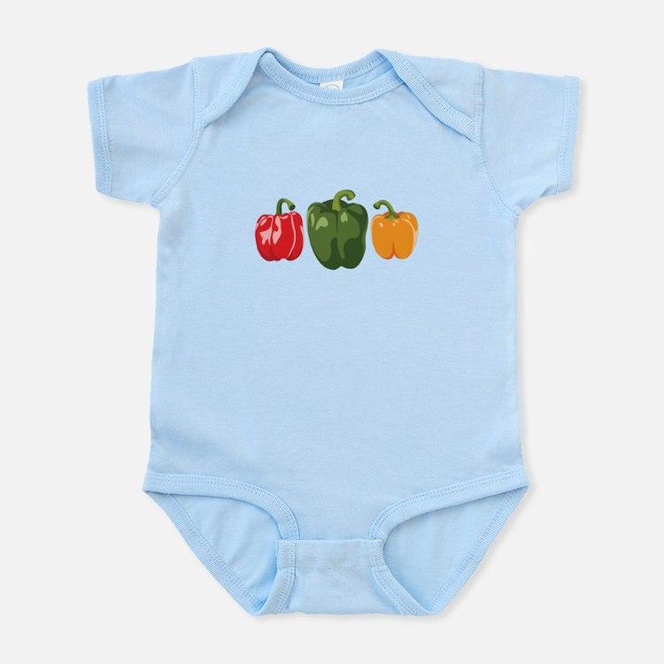 Bell Pepper Vegetables Body Suit
