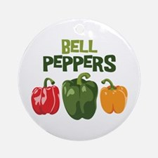 BELL PEPPERS Ornament (Round)