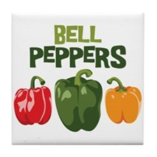 BELL PEPPERS Tile Coaster