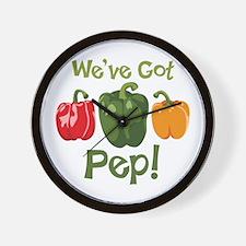 Weve Got Pep! Wall Clock