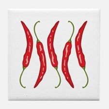 Chili Peppers Tile Coaster