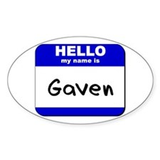 hello my name is gaven Oval Decal