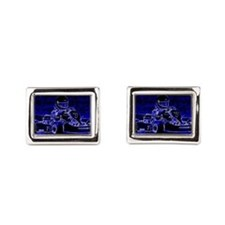 Kart Racer in Blue Cufflinks