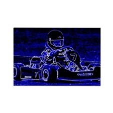 Kart Racer in Blue Magnets