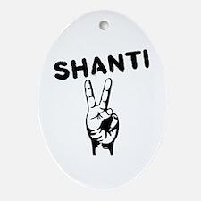 Shanti Ornament (Oval)