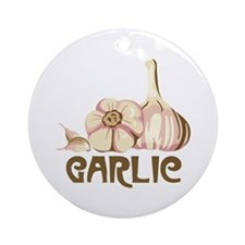 GARLIC Ornament (Round)