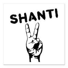 "Shanti Square Car Magnet 3"" x 3"""