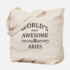 World's Most Awesome Aries Tote Bag