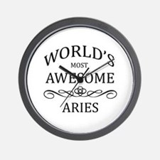 World's Most Awesome Aries Wall Clock