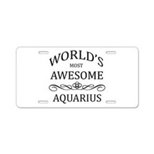 World's Most Awesome Aries Aluminum License Plate