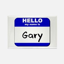 hello my name is gary Rectangle Magnet