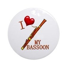 I Love My BASSOON Ornament (Round)