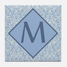 Monogram Letter M Art Deco Tile Coaster