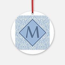 Monogram Letter M Art Deco Ornament (Round)