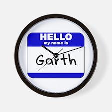 hello my name is garth  Wall Clock