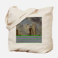 Painting of Ships at sea Tote Bag