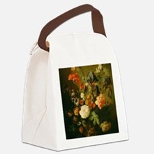 Still Life Painting - Vase of Flo Canvas Lunch Bag