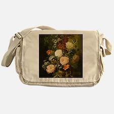 Still Life Painting - Vase of Flower Messenger Bag