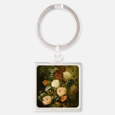 Still Life Painting - Vase of Flow Square Keychain