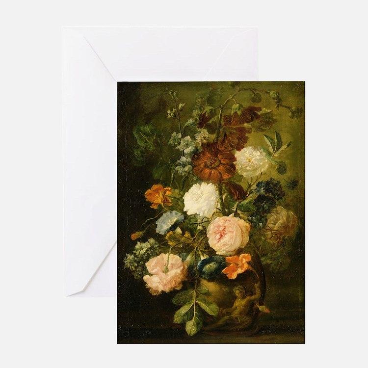 Still Life Painting - Vase of Flower Greeting Card