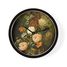 Still Life Painting - Vase of Flowers Wall Clock