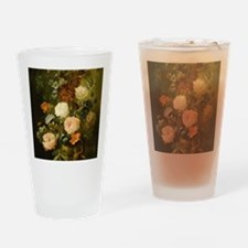 Still Life Painting - Vase of Flowe Drinking Glass