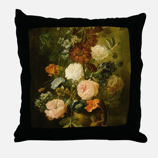 Still Life Painting - Vase of Flowers Throw Pillow