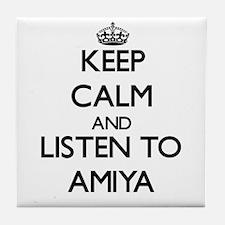 Keep Calm and listen to Amiya Tile Coaster
