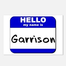 hello my name is garrison  Postcards (Package of 8