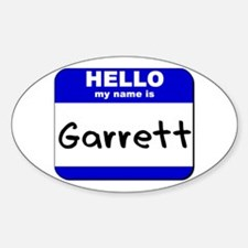 hello my name is garrett Oval Decal