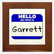 hello my name is garrett  Framed Tile