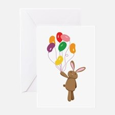 Easter Bunny Jelly Bean Balloons Greeting Cards