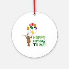 Hoppy Birthday To Me! Ornament (Round)