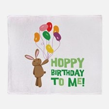 Hoppy Birthday To Me! Throw Blanket