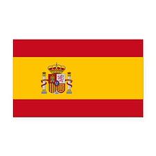 Spain Flag Rectangle Car Magnet