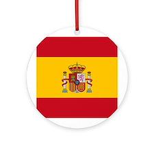Spain Flag Ornament (Round)