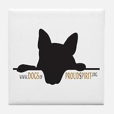 Proud Spirit Sanctuary Dogs Tile Coaster