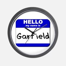 hello my name is garfield  Wall Clock