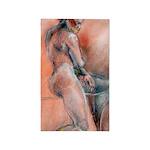 Female Nude Drawing 3'x5' Area Rug