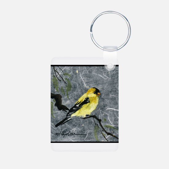 Keychains w/finch/parrot