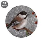"3.5"" Button (10 pack) Chickadee"