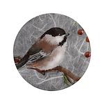 "3.5"" Button (100 pack) Chickadee"