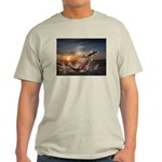 Sunset with Jumping fish/camel Light T-Shirt