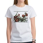 Women's T-Shirt-lily and gladiolus