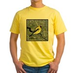 Yellow T-Shirt with Gold finch