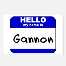hello my name is gannon  Postcards (Package of 8)