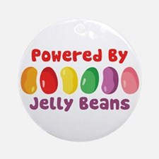 Powered By Jelly Beans Ornament (Round)